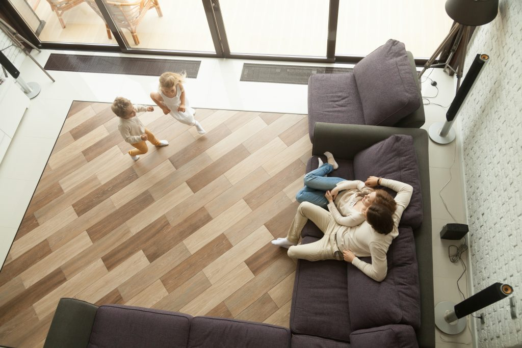 Galt homeowners enjoying their new floor.